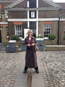 The Prime Meridian at Greenwich, outside London, 2015