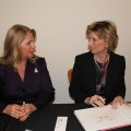 Signing books at the Virginia Museum of Fine Arts with First Lady Maureen McDonnell who introduced my talk